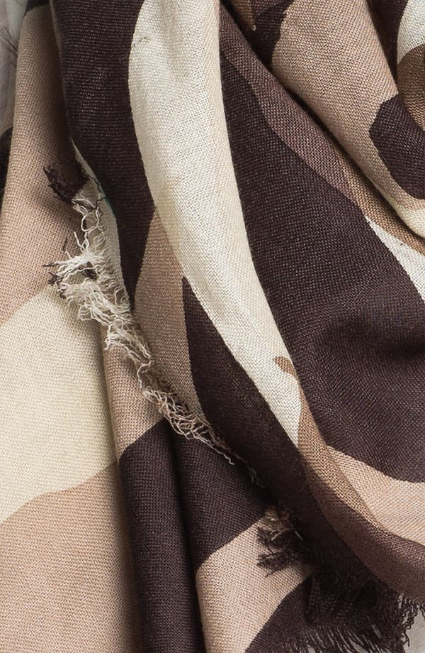Alternate Image 2  - Halogen® 'Hyperbloom' Wool Challis Scarf