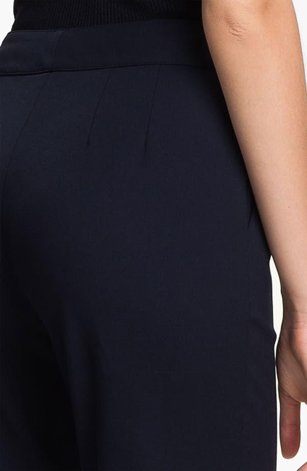 Alternate Image 3  - St. John Collection 'Emma' Double Weave Stretch Cotton Crop Pants
