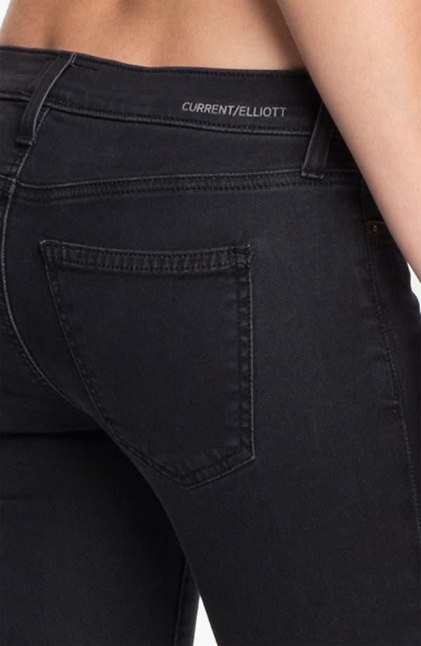 Alternate Image 3  - Current/Elliott 'The Ankle' Print Crop Skinny Jeans (Black Fade)