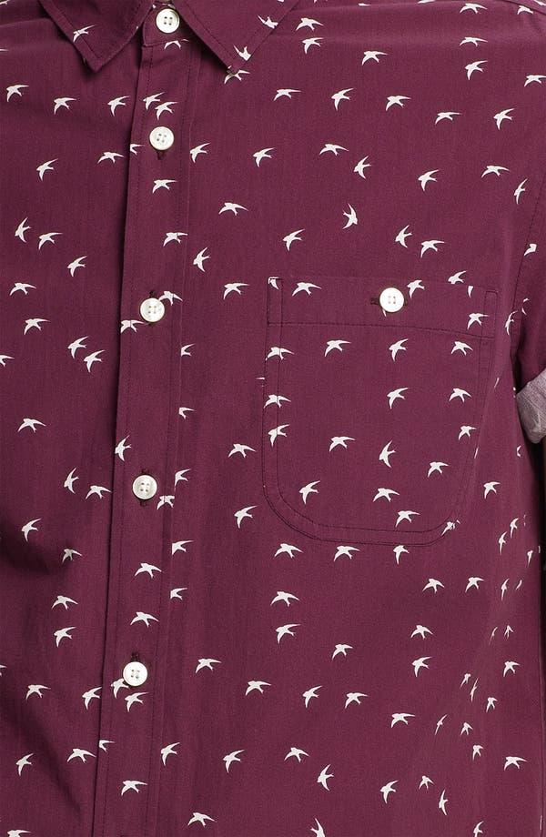 Alternate Image 3  - Topman Swallow Print Woven Shirt