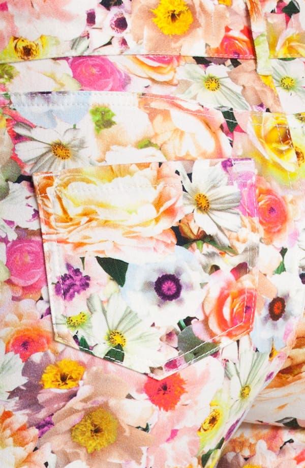Alternate Image 3  - MSGM Floral Print Skinny Jeans