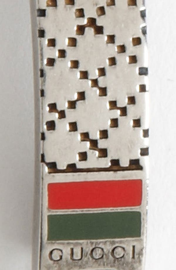 Alternate Image 2  - Gucci Diamante Pattern Sterling Silver Bracelet