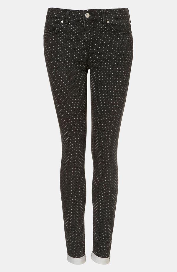 Main Image - Topshop 'Leigh' Pin Spot Print Jeans