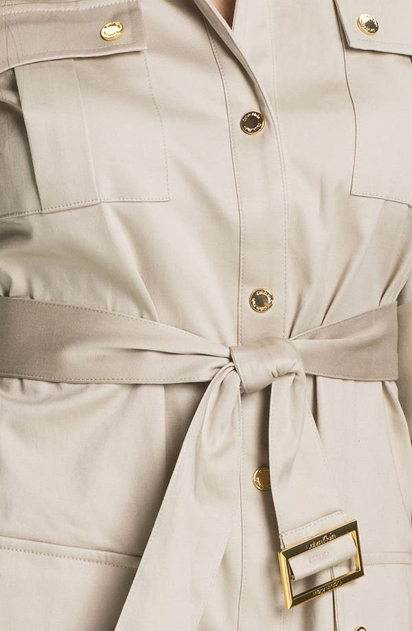 Alternate Image 3  - Calvin Klein Belted Cotton Shirtdress