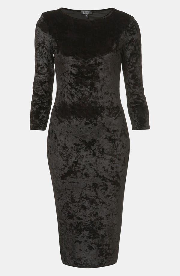Alternate Image 1 Selected - Topshop Crushed Velvet Midi Dress