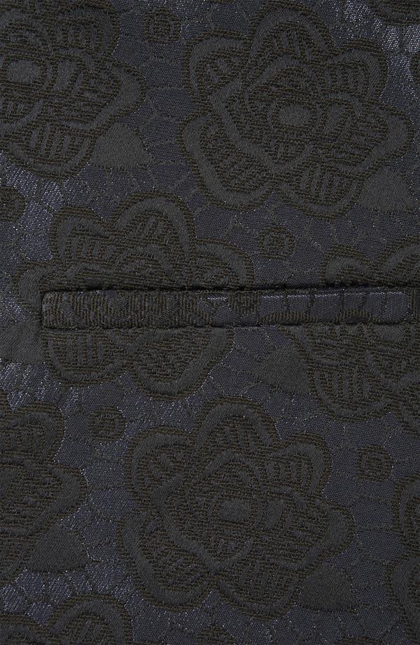 Alternate Image 3  - Topshop Floral Jacquard Tux Blazer