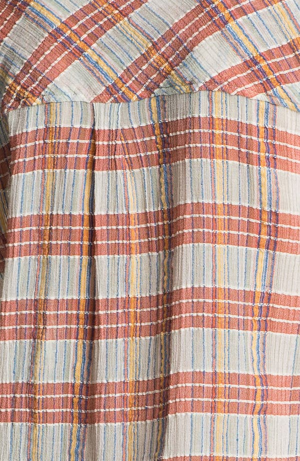 Alternate Image 3  - Free People 'Midwest' Textured Plaid Shirt