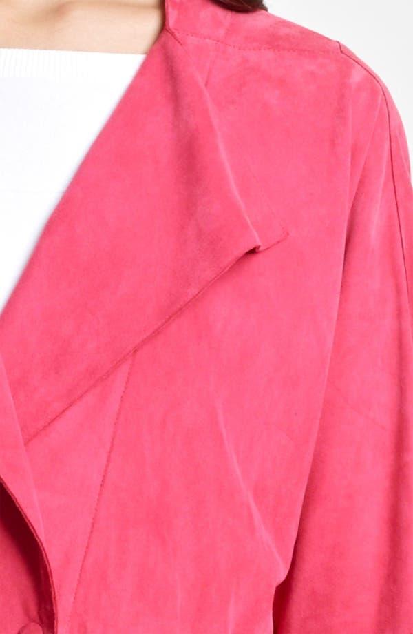 Alternate Image 3  - Armani Collezioni Suede Jacket