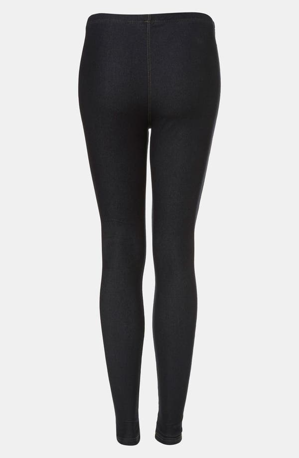 Alternate Image 2  - Topshop Denim Leggings