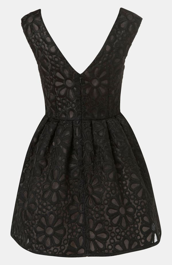 Alternate Image 2  - Topshop Embroidered Organza Party Dress