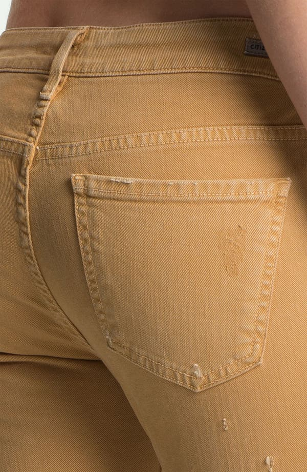 Alternate Image 3  - Citizens of Humanity 'Racer' Crop Skinny Jeans (Biscuit)