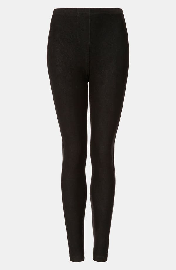 Alternate Image 1 Selected - Topshop Coated Denim Leggings