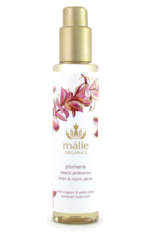Alternate Image 1 Selected - Malie Organics Plumeria Organic Linen & Room Spray