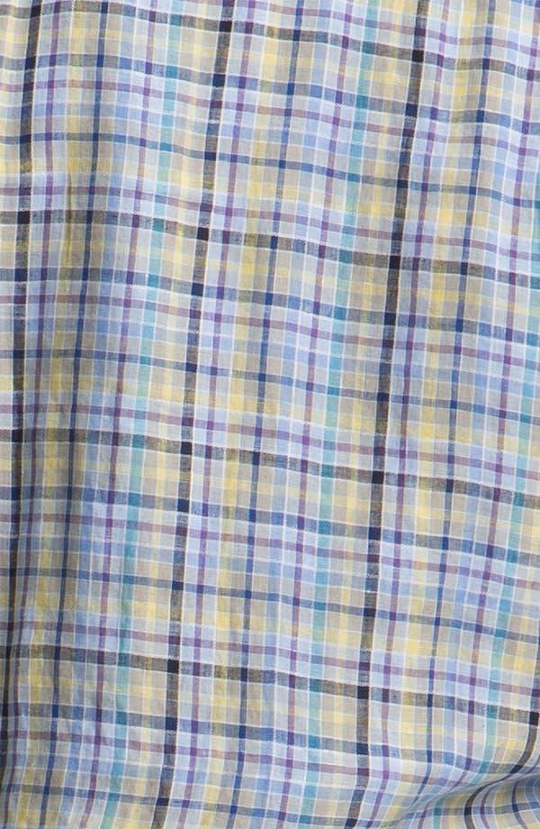 Alternate Image 3  - Robert Talbott Regular Fit Linen Sport Shirt