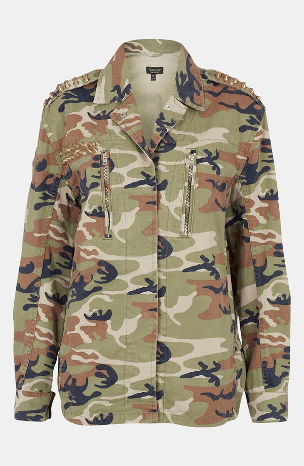 Alternate Image 1 Selected - Topshop Studded Camo Jacket