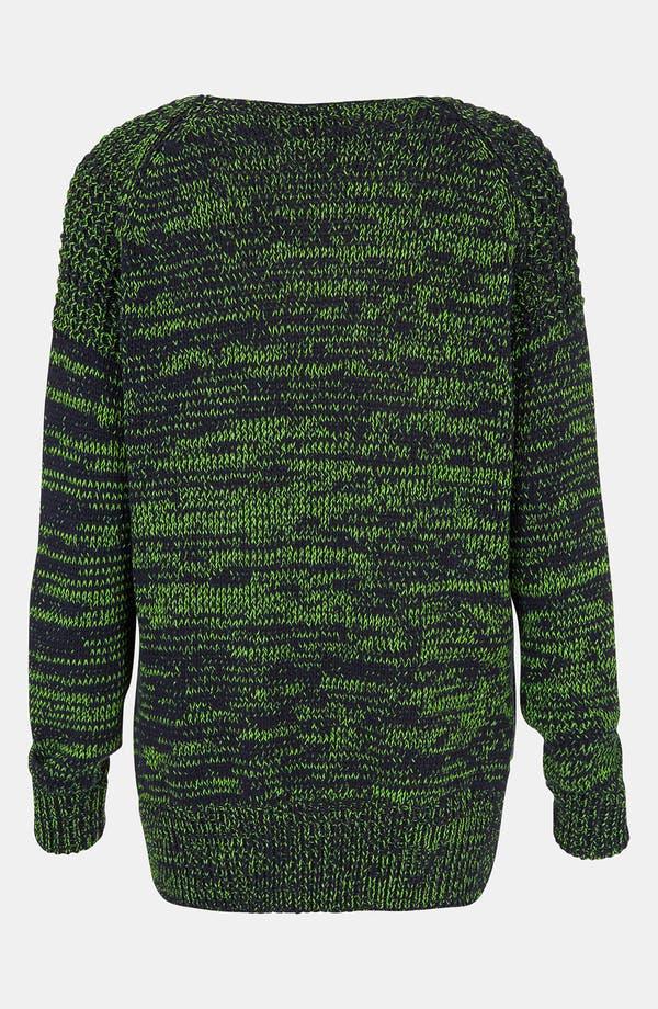 Alternate Image 2  - Topshop Neon Mélange Sweater