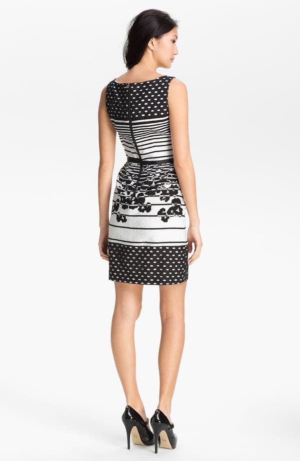 Alternate Image 2  - Taylor Dresses Jacquard Print Sheath Dress