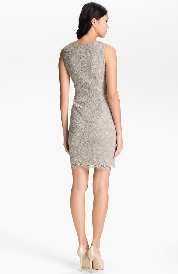 Alternate Image 2  - Adrianna Papell V-Neck Lace Dress