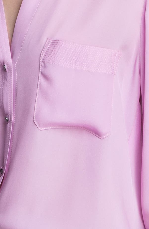 Alternate Image 3  - L'AGENCE Epaulet Detail Silk Blouse