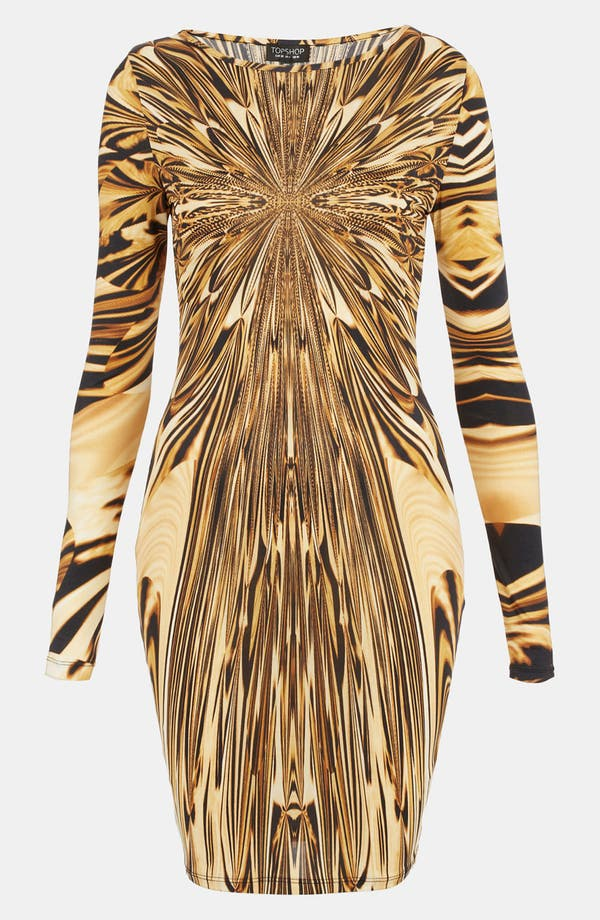 Alternate Image 1 Selected - Topshop Liquid Print Body-Con Dress