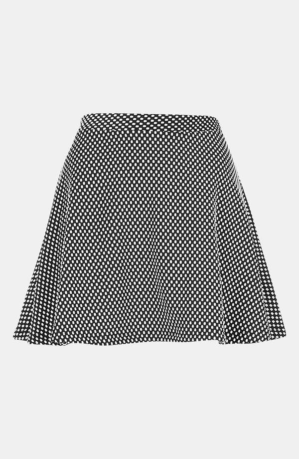 Alternate Image 2  - Topshop Polka Dot Skater Skirt (Petite)