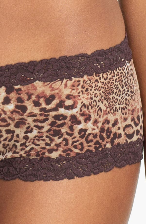 Alternate Image 3  - Natori Lace Trim Boyshorts