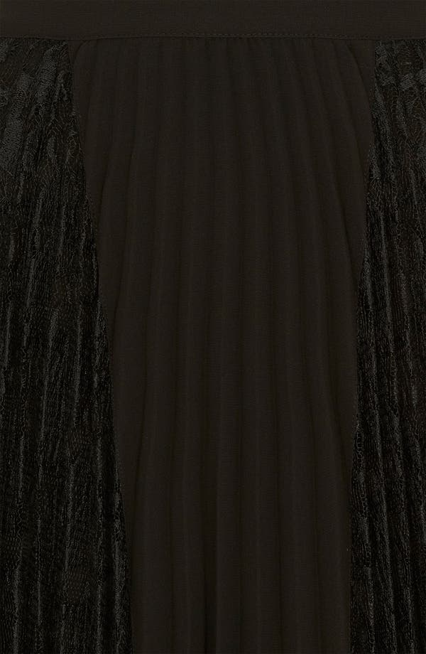 Alternate Image 3  - Topshop Pleated Lace Panel Skirt