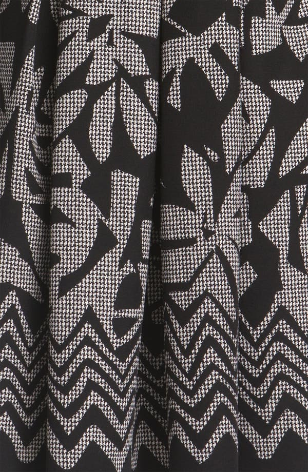 Alternate Image 3  - Tahari Pleated Print Twill Dress
