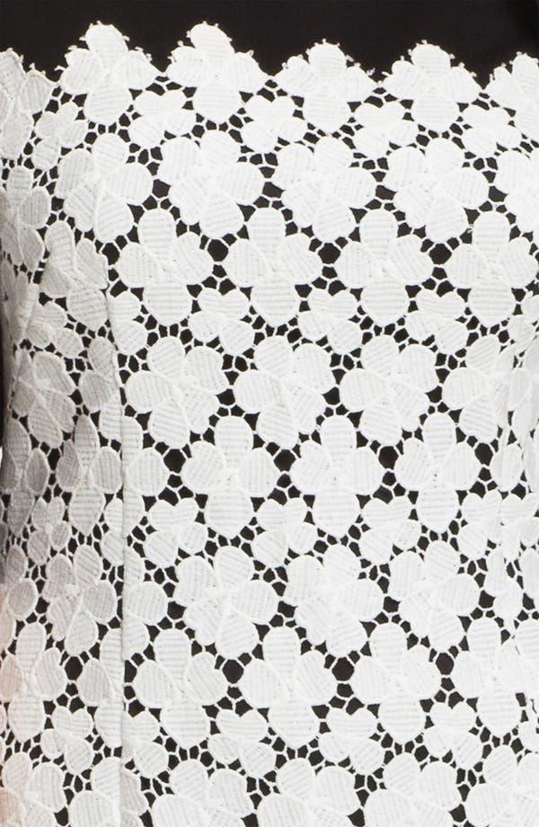 Alternate Image 3  - Suzi Chin for Maggy Boutique Lace Overlay Sheath Dress