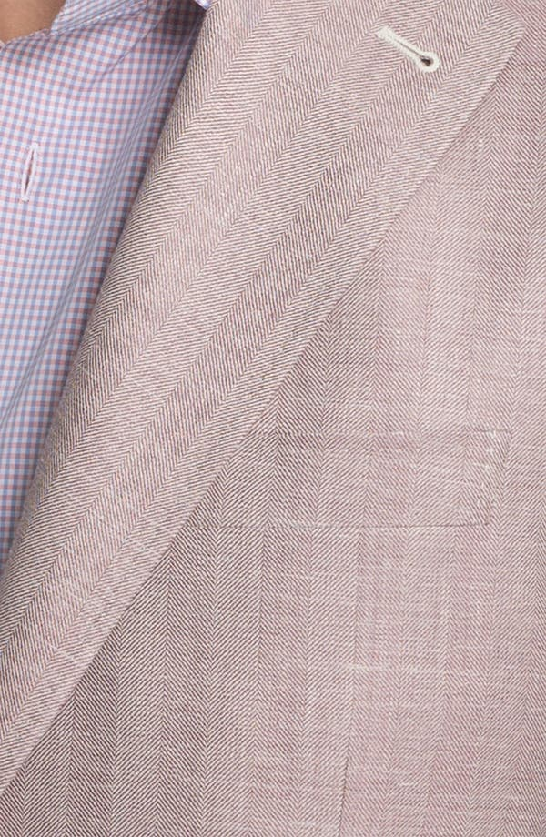 Alternate Image 3  - Canali Herringbone Sportcoat