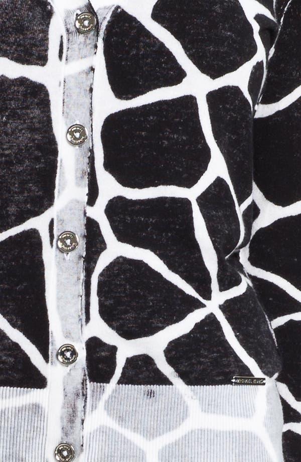 Alternate Image 3  - MICHAEL Michael Kors 'Inside Out' V-Neck Cardigan (Petite)