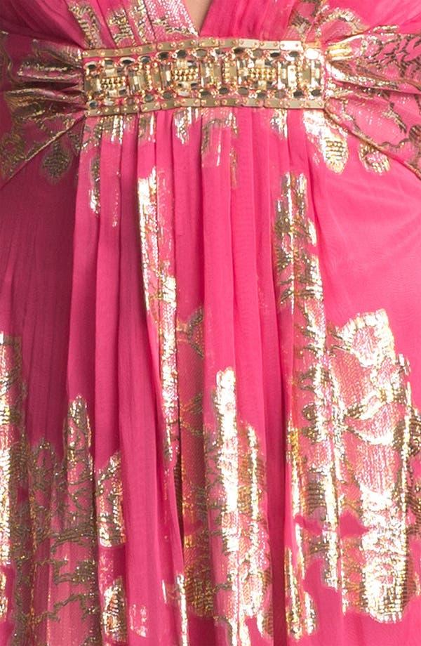Alternate Image 3  - Xscape Embellished Metallic Chiffon Gown