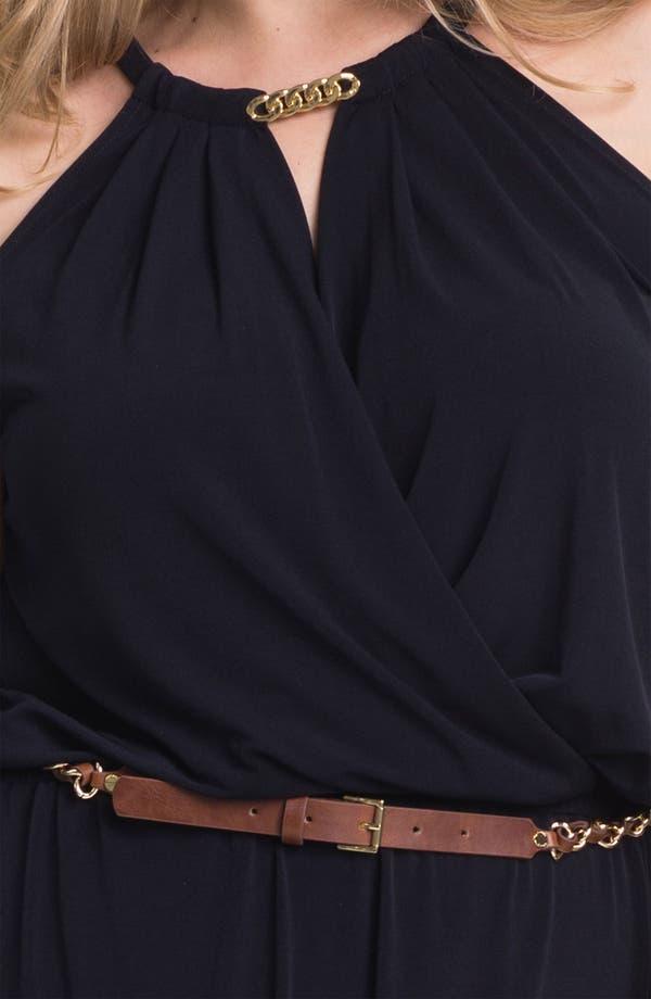 Alternate Image 3  - MICHAEL Michael Kors Draped High/Low Jersey Dress (Plus Size) (Online Exclusive)