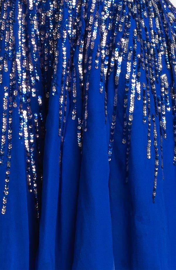Alternate Image 3  - Sherri Hill Embellished Sweetheart Fit & Flare Silk Dress (Online Only)