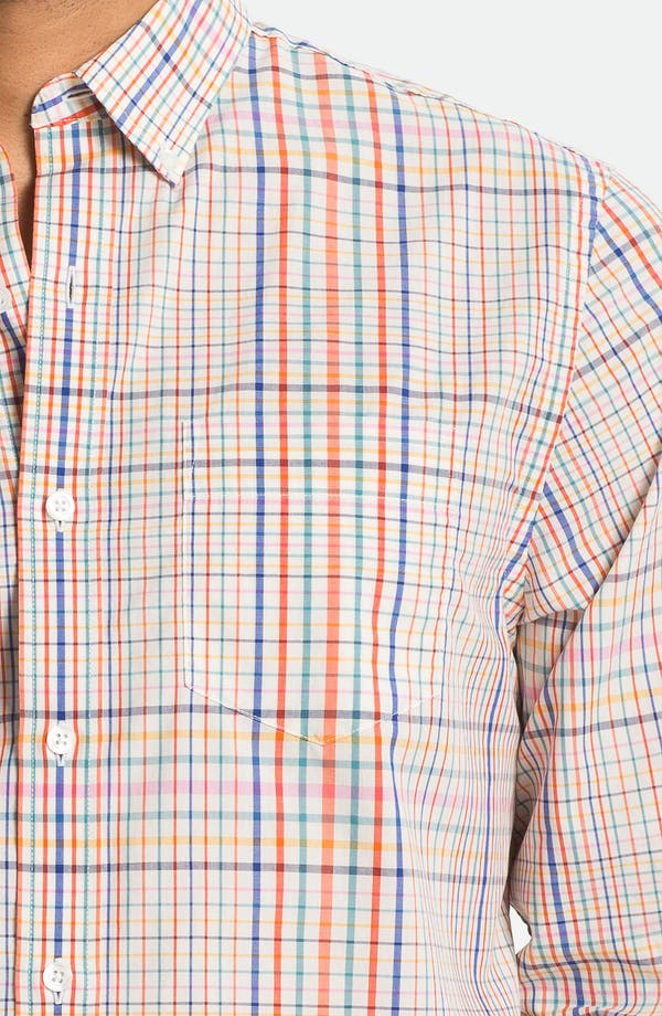 Alternate Image 3  - Bonobos Tattersall Standard Fit Sport Shirt
