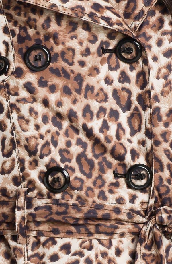 Alternate Image 3  - Betsey Johnson Lace-Up Back Print Trench Coat