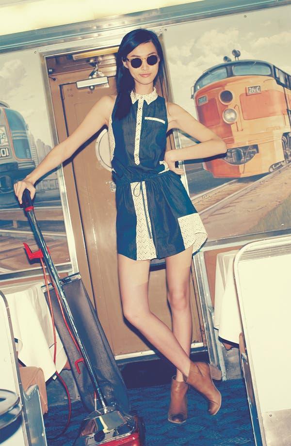 Alternate Image 4  - Viva Vena! 'Chinati' Patchwork Gauze & Chambray Dress