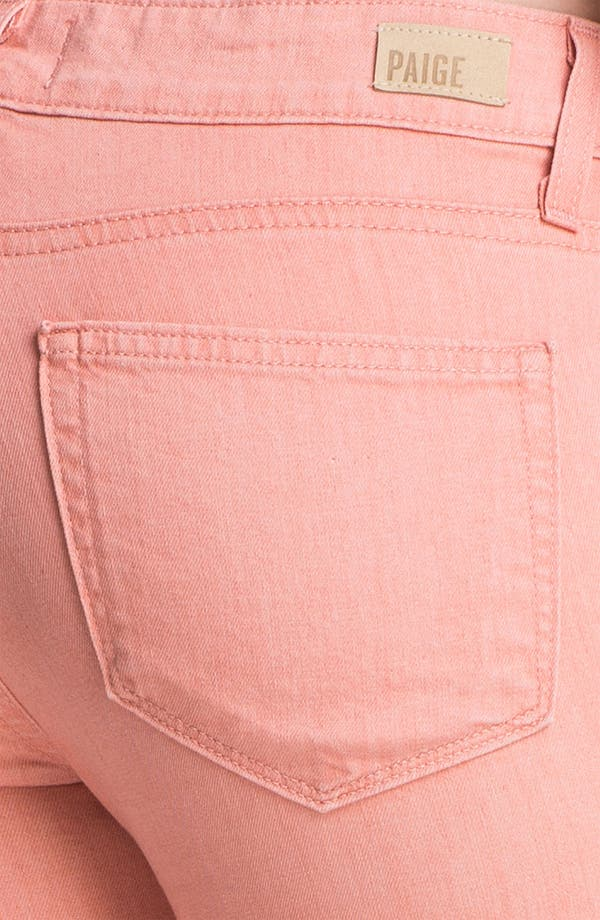 Alternate Image 3  - Paige Denim 'Verdugo' Skinny Stretch Jeans (Peach)