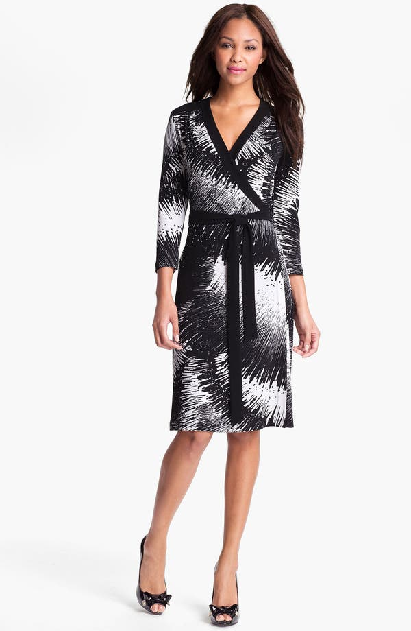 Main Image - Alex & Ava Print Jersey Wrap Dress