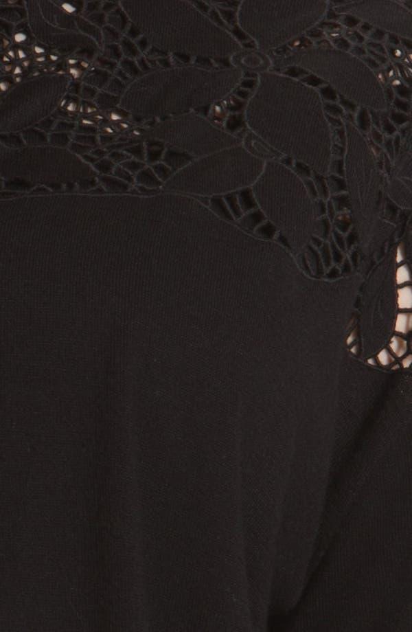 Alternate Image 3  - DKNYC Eyelet Cardigan (Plus Size)
