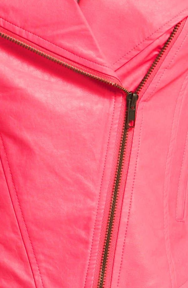 Alternate Image 3  - ASTR Faux Leather Biker Vest