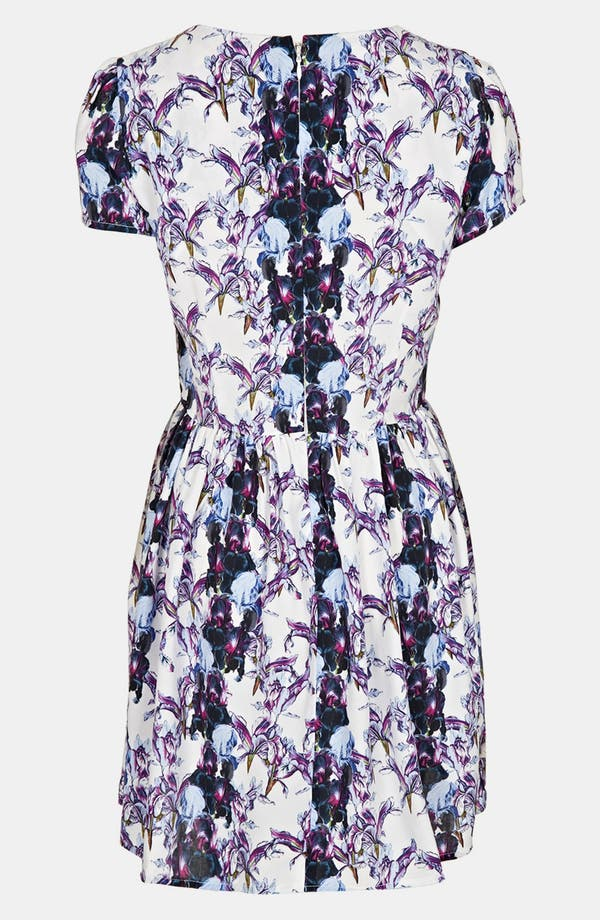 Alternate Image 2  - Topshop 'Florence' Iris Print Dress