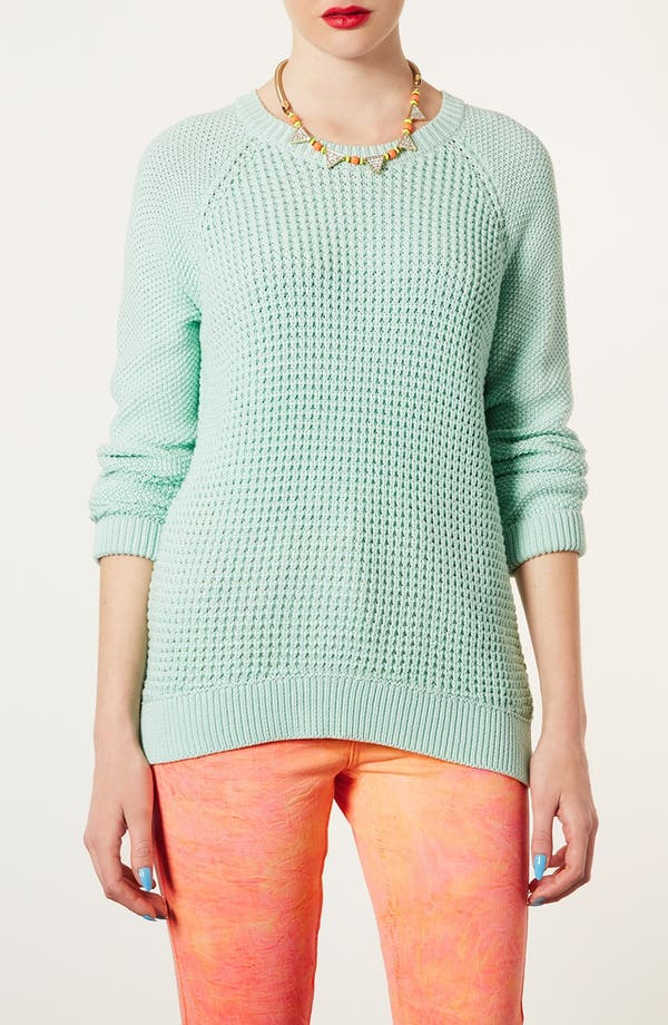 Alternate Image 1 Selected - Topshop 'New Textured Grunge' Sweater