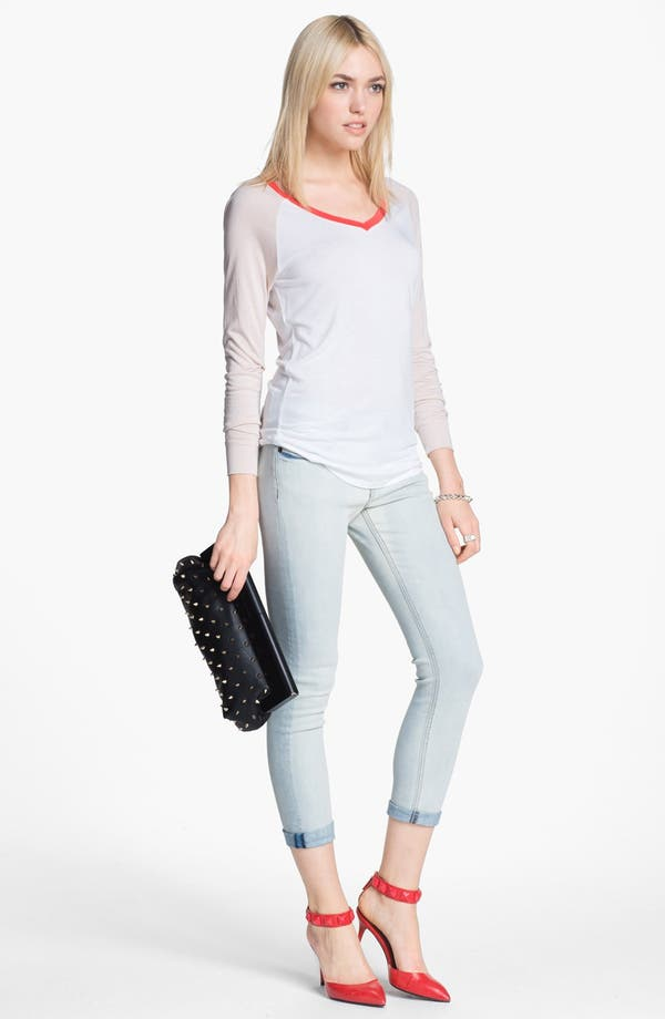 Alternate Image 1 Selected - edyson Skinny Ankle Jeans (Bleach)