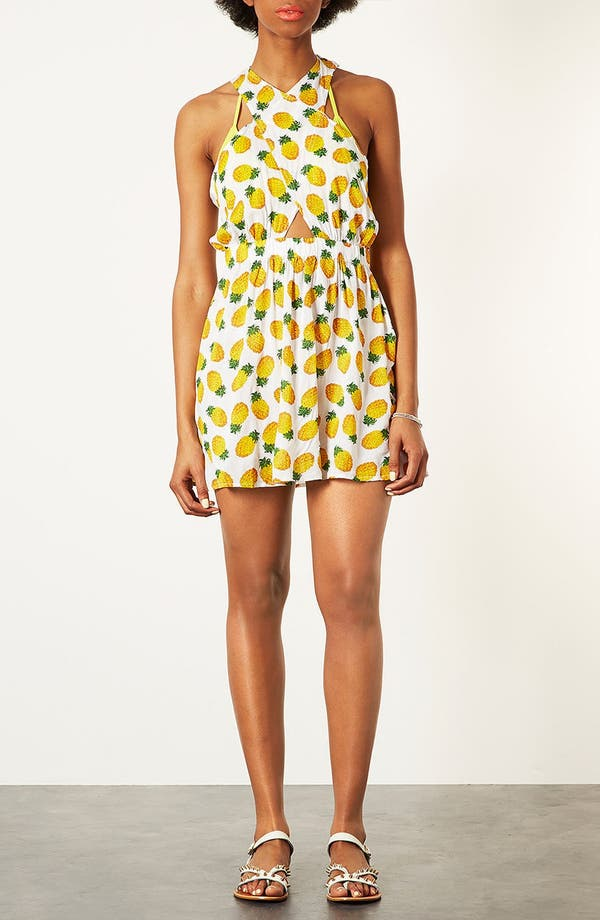 Alternate Image 2  - Topshop Pineapple Print Sundress