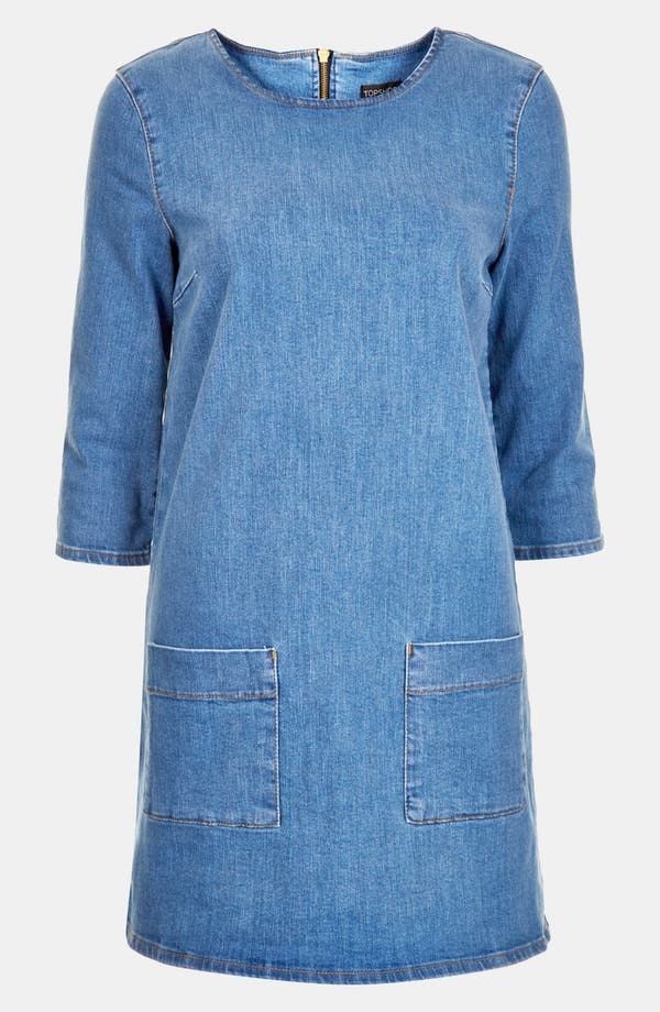 Alternate Image 3  - Topshop Denim Tunic Dress