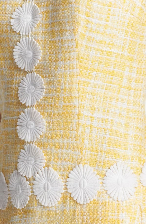 Alternate Image 3  - Laundry by Shelli Segal Daisy Trim Bouclé Dress