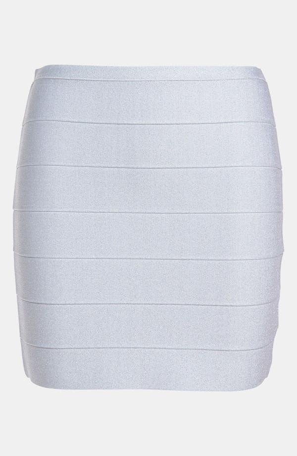 Main Image - BB Dakota Metallic Bandage Miniskirt
