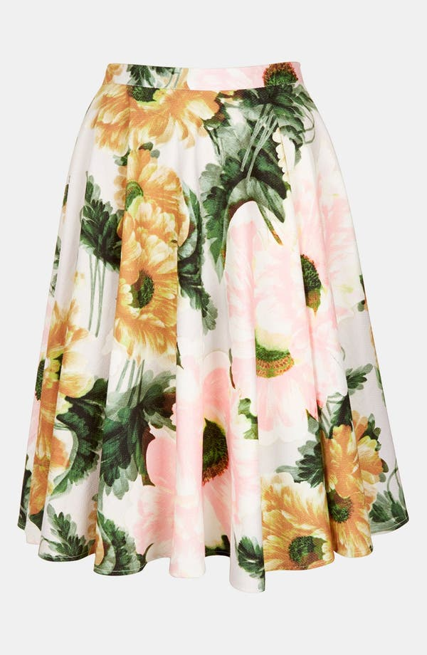 Alternate Image 3  - Topshop 'Modern Flower' Skirt