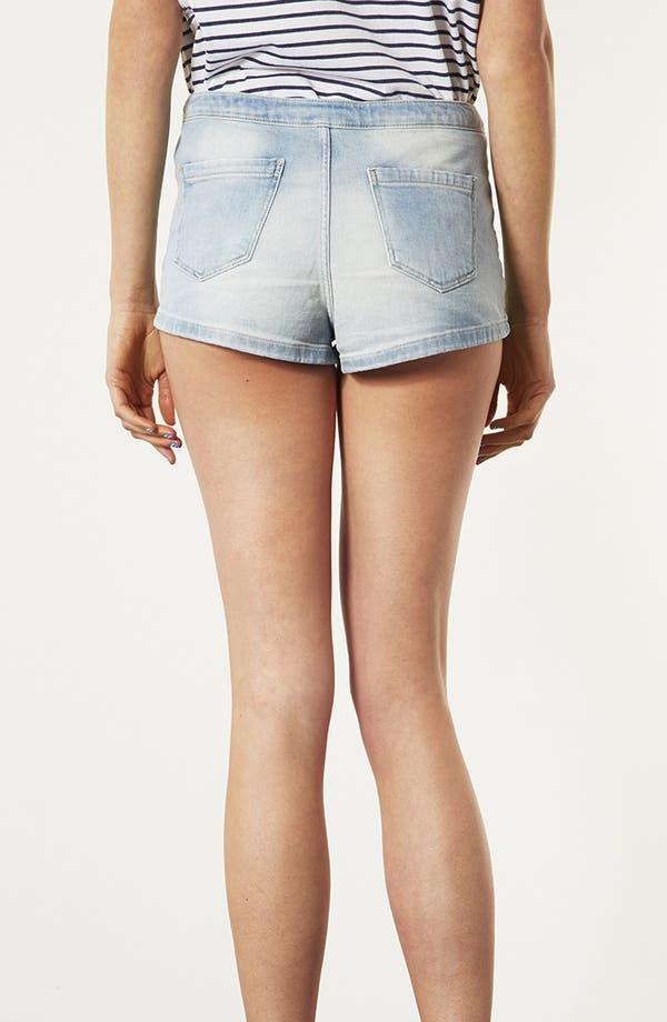 Alternate Image 2  - Topshop 'Francis' Bleached Denim Shorts